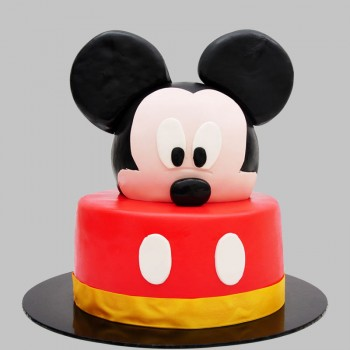2 Kg Mickey Mouse Theme Chocolate Fondant Cake