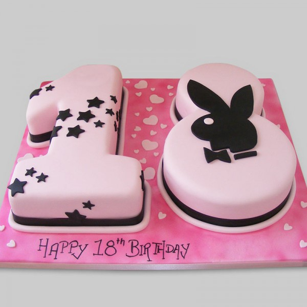 Astonishing Happy 18Th Birthday Cake Myflowertree Personalised Birthday Cards Veneteletsinfo