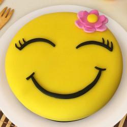 1 Kg Emoji Face Chocolate Fondant Cake for Women