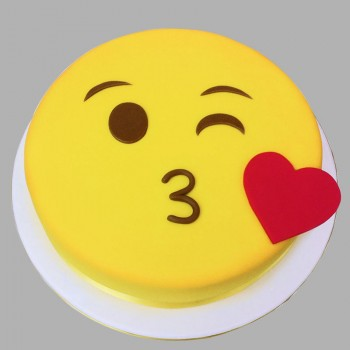 1 Kg Smiley Face Emoji Chocolate Fondant Cake