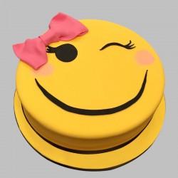 Adorable Smiley Chocolate Cake