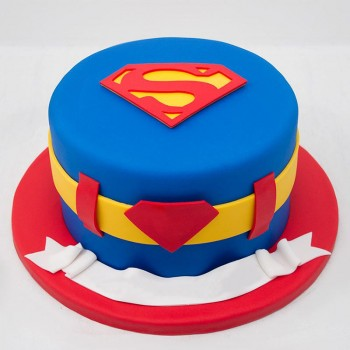 1 Kg Superman Theme Chocolate Fondant Cake