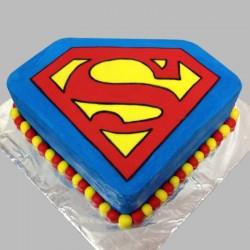 Superman Symbol Cake