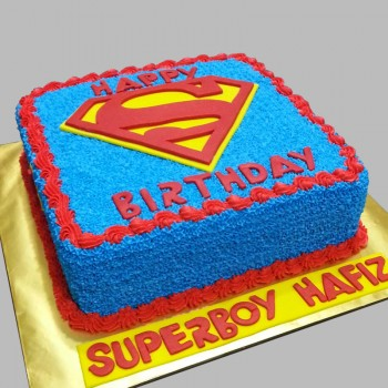Superman Chocolate Cream Cake