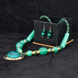 Aqua Green Beaded Set