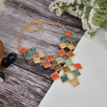 Designer Colorful Stone Neckpiece