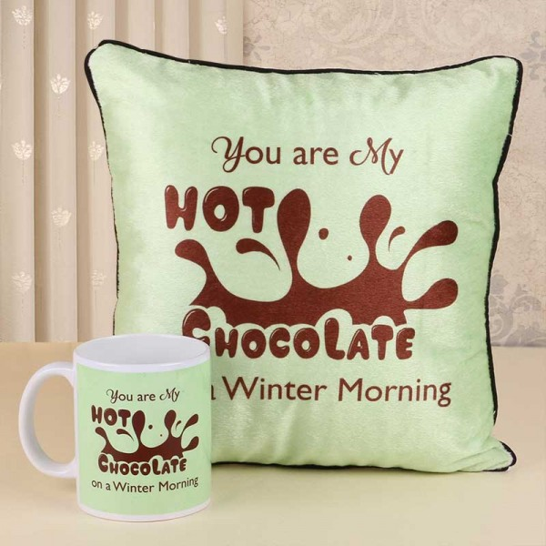 Chocolate Day Mug and Cushion