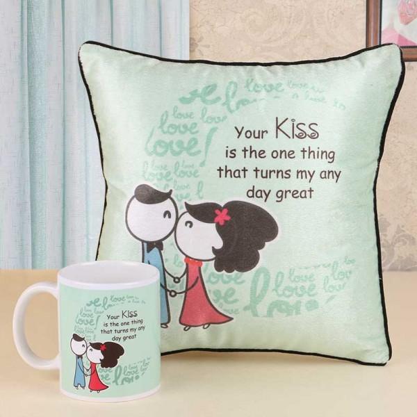 Kiss Day Mug and Cushion