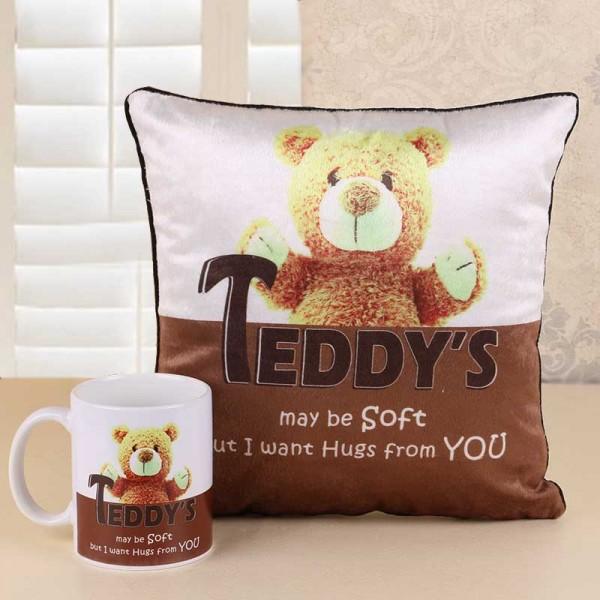 Teddy Day Mug and Cushion