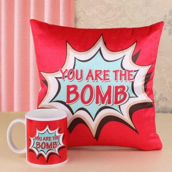 You are the Bomb Printed Mug and Cushion