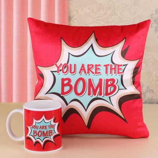 You are the Bomb Printed Mug and Cushion