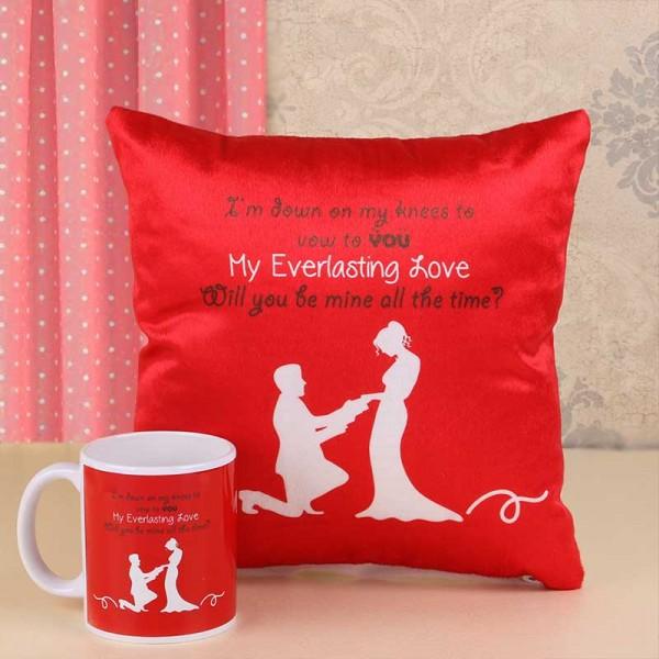 Propose Day Mug and Cushion