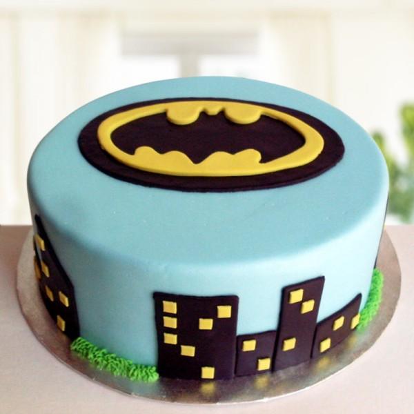 One Kg Batman Theme Designer Chocolate Fondant Cake