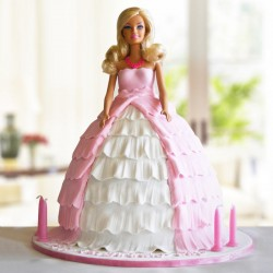 Pink N White Princess Cake