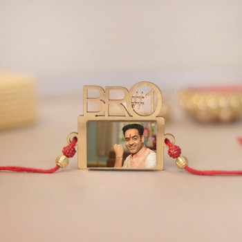 Personalised Bro Number 1 Rakhi
