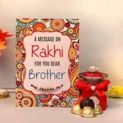Designer Pearl Rakhi with Handmade Chocolates