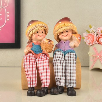 Designer Couple Doll Set