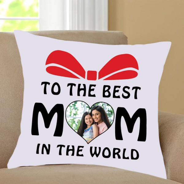 Best Mom Printed Quote Personalised Cushion