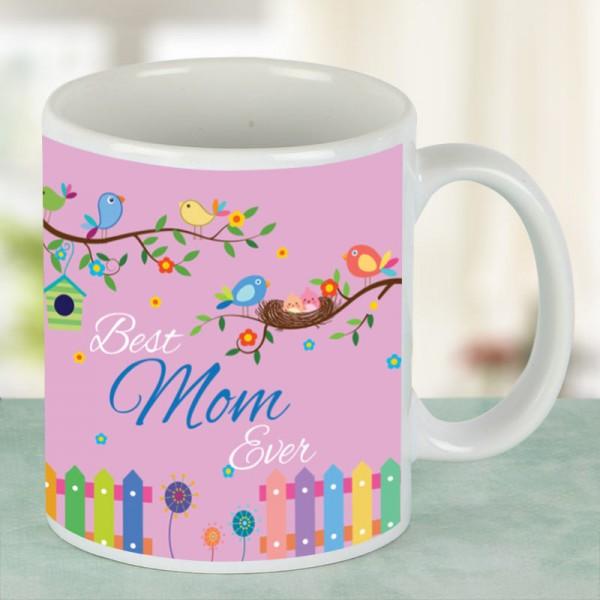 Best Mom Ever Printed White Mug