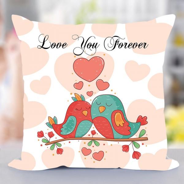 Love Birds Printed Cushion