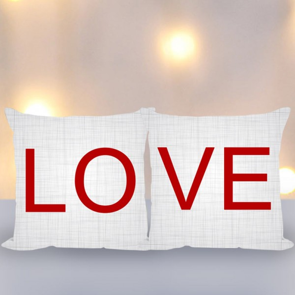 Love Printed Couple Cushions