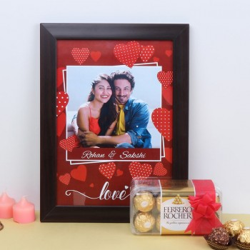 A4 Size Photo Frame with 16 pcs Ferrero Rocher Chocolate