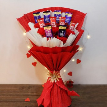 One Bouquet of 6 Dairy Milk Chocolate and 4 Kitkat Chocolate.