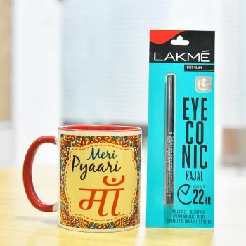 Eye Conic Kajal with Ma Printed Mug