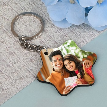 Personalised Wooden Keychain for Rakhi