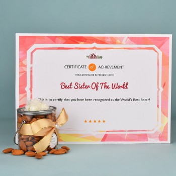 Printed Certificate with Dryfruit Gift Box