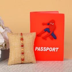 Pearl Rakhi N Spiderman Passport Holder