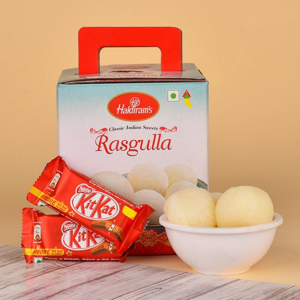 Rasgulla Tin Box with Kitkat Chocolate