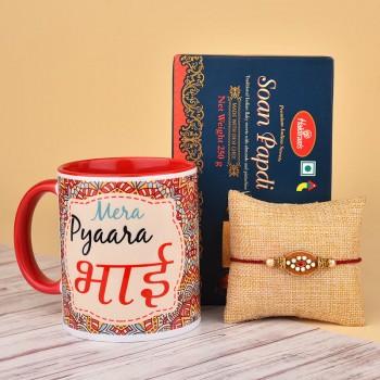 Send Rakhi Mug And Cushion Online