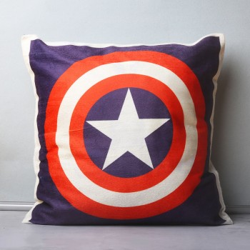 Captain America Theme Printed Cushion