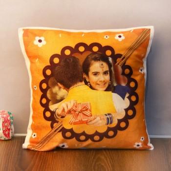 One Personalised Rakhi Theme Cushion