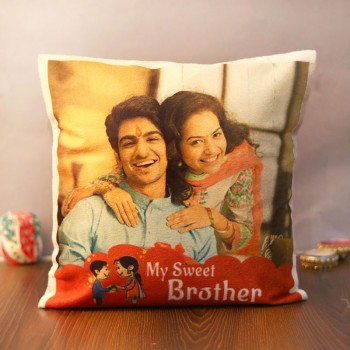 Personalised Cushion for the sweetest brother for Rakhi