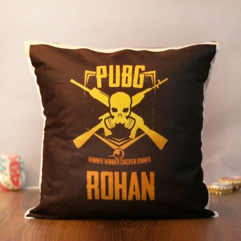 One Personalised PUBG Theme Cushion