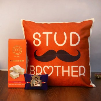 Stud Brother Rakhi Gift Set