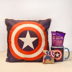 Captain America Rakhi Gift Set