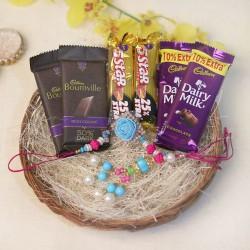 The Chocolaty Bhaiya Bhabhi Rakhi Combo