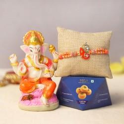 Ganpati and Rakhi with Sweets