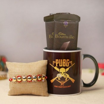 Rakhi with PUBG Mug and Chocolate