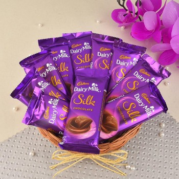 Chocolate Hamper of 10 Dairy Milk Silks Chocolate (60 gm)