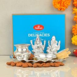 Silver Plated Diwali Thali Hamper
