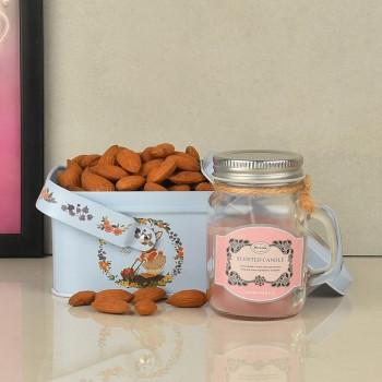 Almond Jar with Strawberry Essence Jar Candle