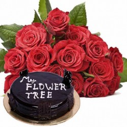 Send Flowers with Cake Online