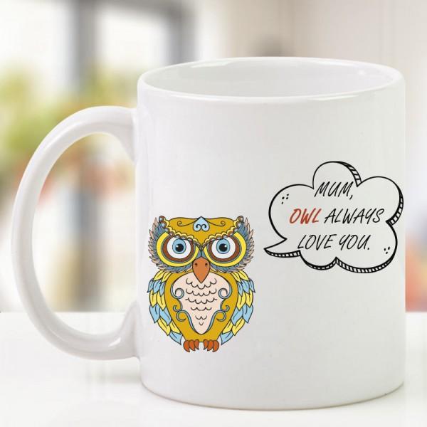 Owl Printed Coffee Mug