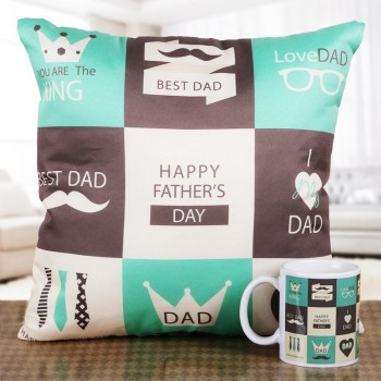 Fathers Day Cushion and Mug