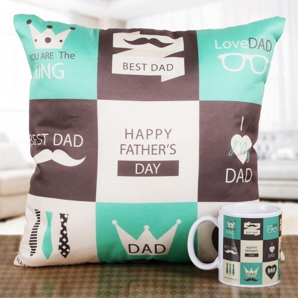 Fathers Day Cushion and Mug