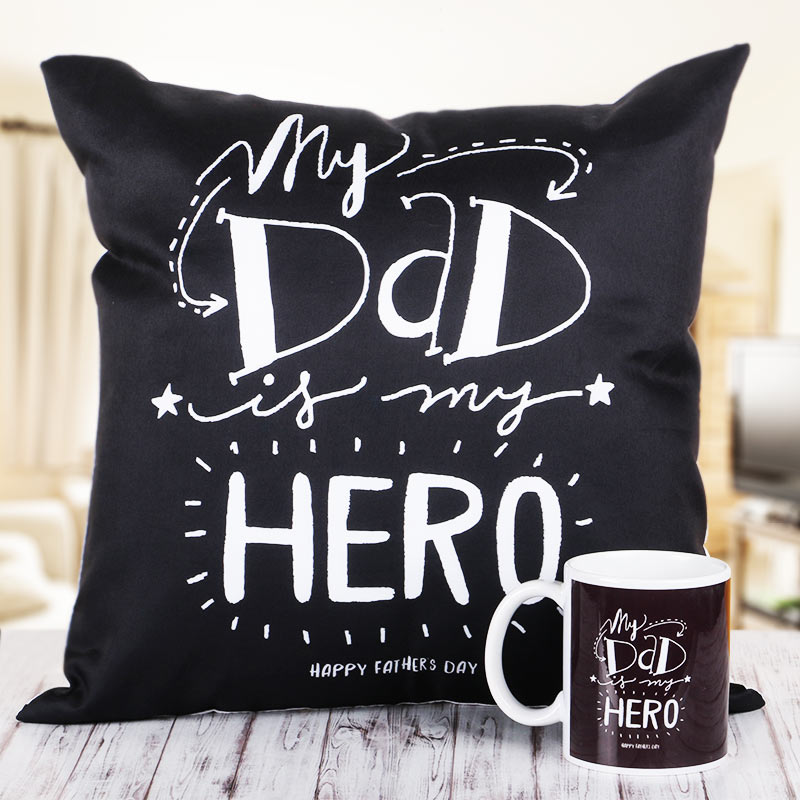 D is For Dad Cushion